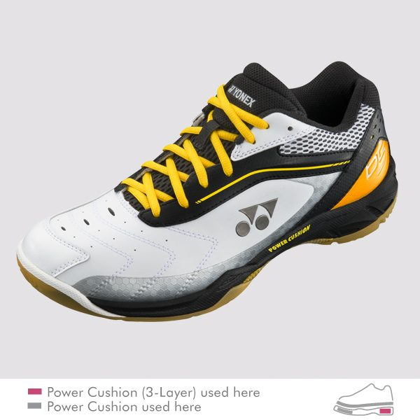 yonex power cushion shb 65 black yellow