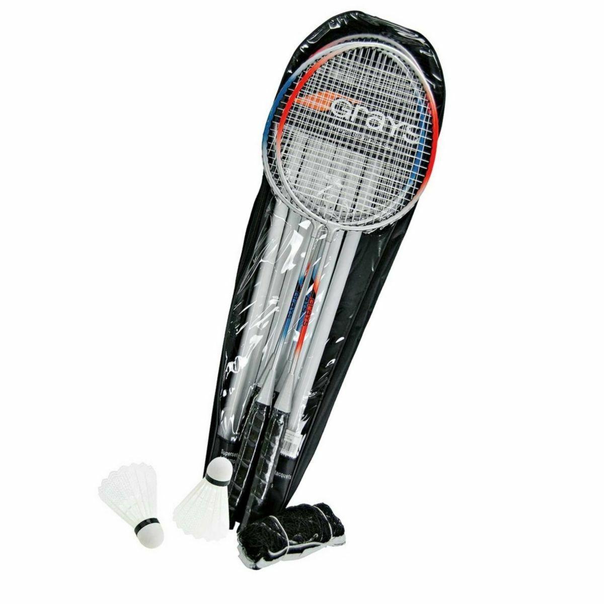 Grays 4 Player Badminton Combo Set: 4 Racquets, Bag, Net ...